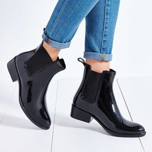 Jeffrey Campbell Stormy Black Rain Boots